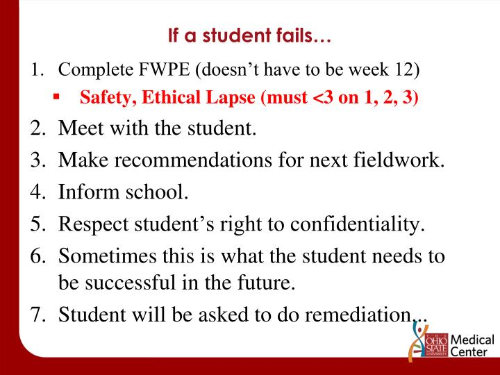 If a student fails…