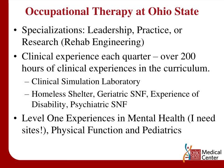 Occupational Therapy at Ohio State