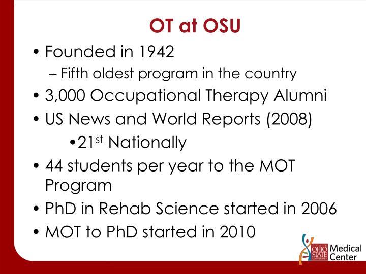 OT at OSU