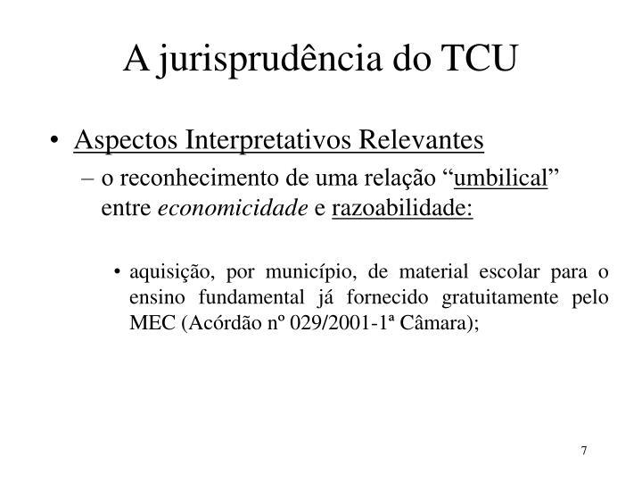 A jurisprudência do TCU