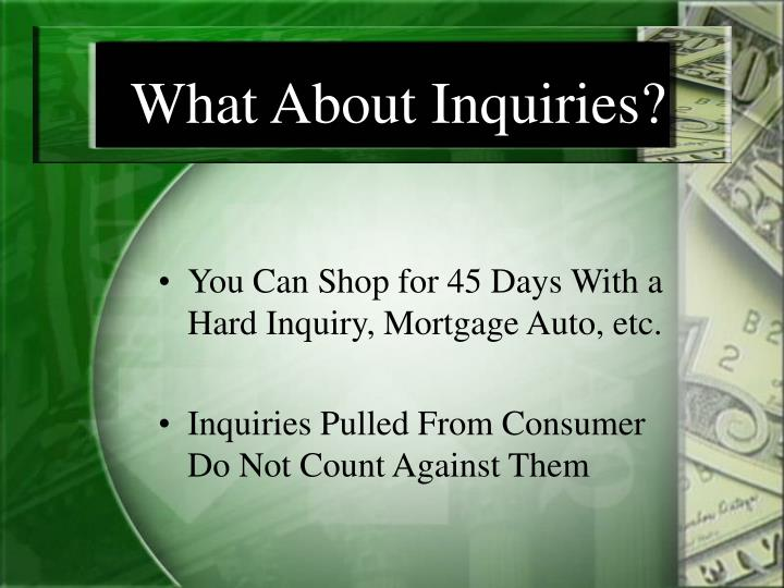 What About Inquiries?