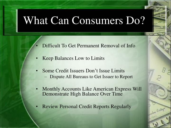 What Can Consumers Do?