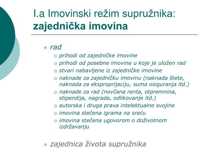I.a Imovinski