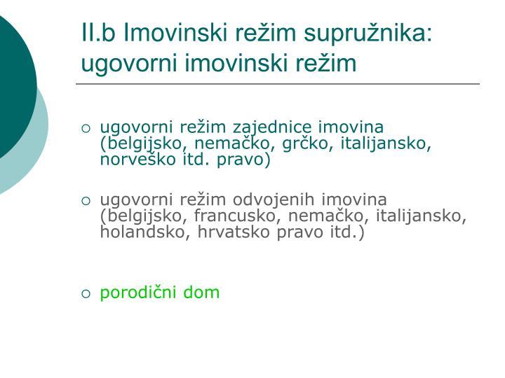 II.b Imovinski
