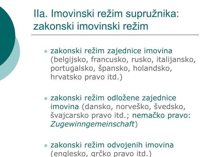 IIa. Imovinski