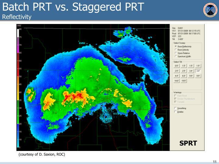 Batch PRT vs. Staggered PRT