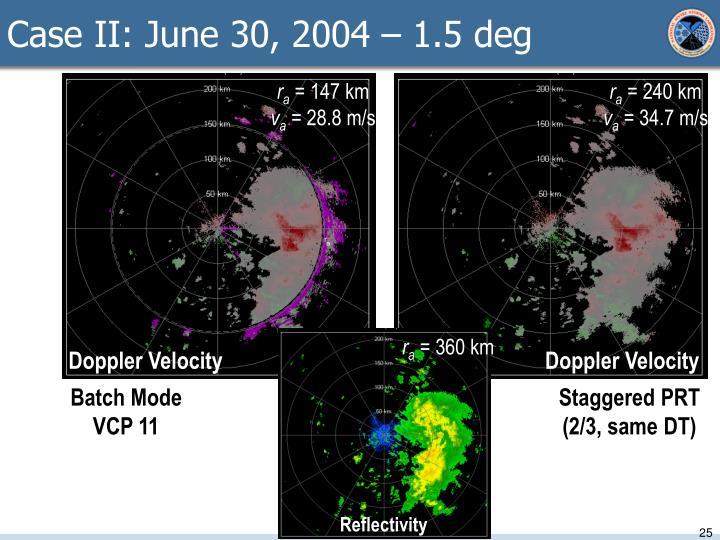 Case II: June 30, 2004 – 1.5 deg