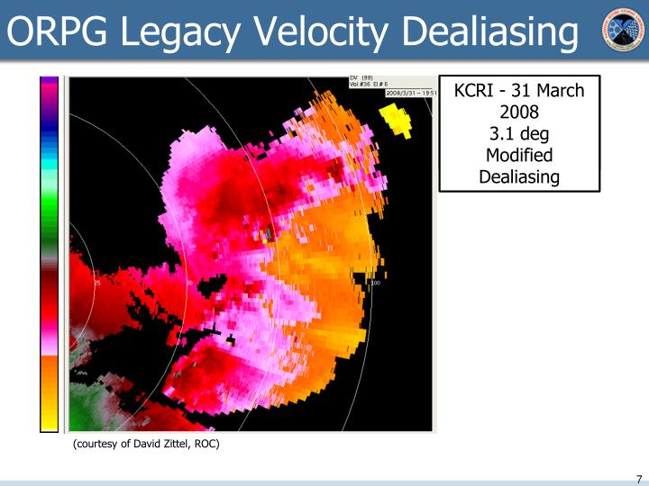 ORPG Legacy Velocity Dealiasing