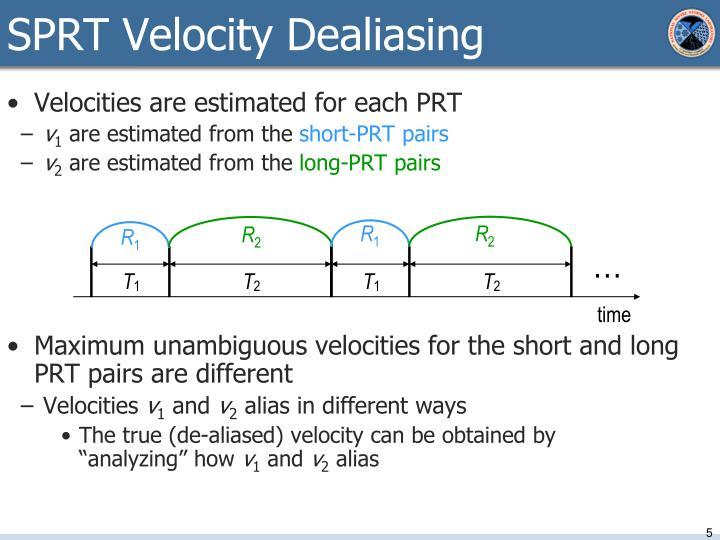 SPRT Velocity Dealiasing