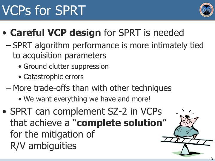 VCPs for SPRT