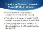 newark arts education leadership council naelc structure