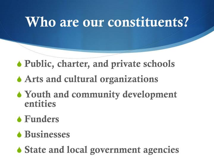 Who are our constituents