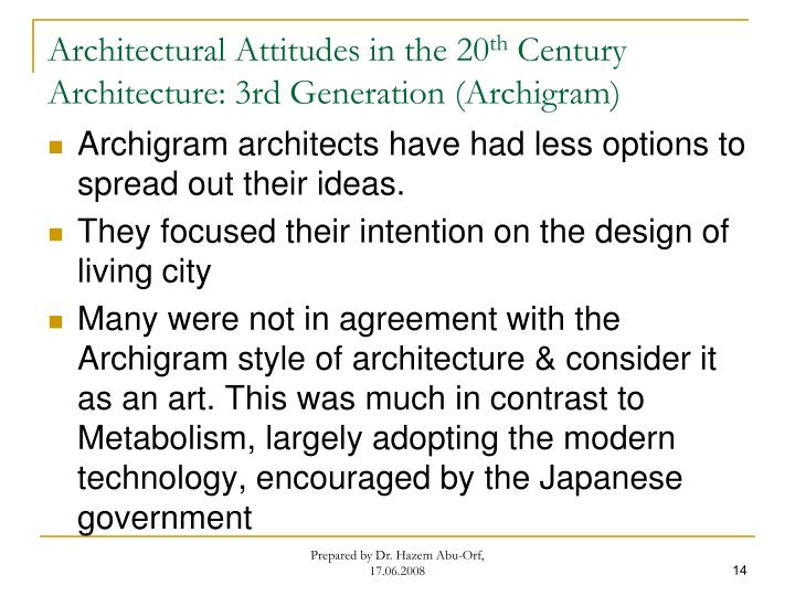 Architectural Attitudes in the 20