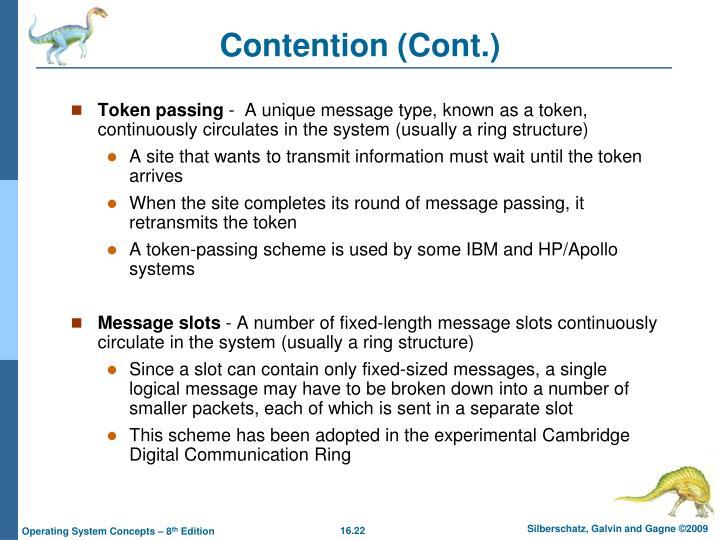 Contention (Cont.)