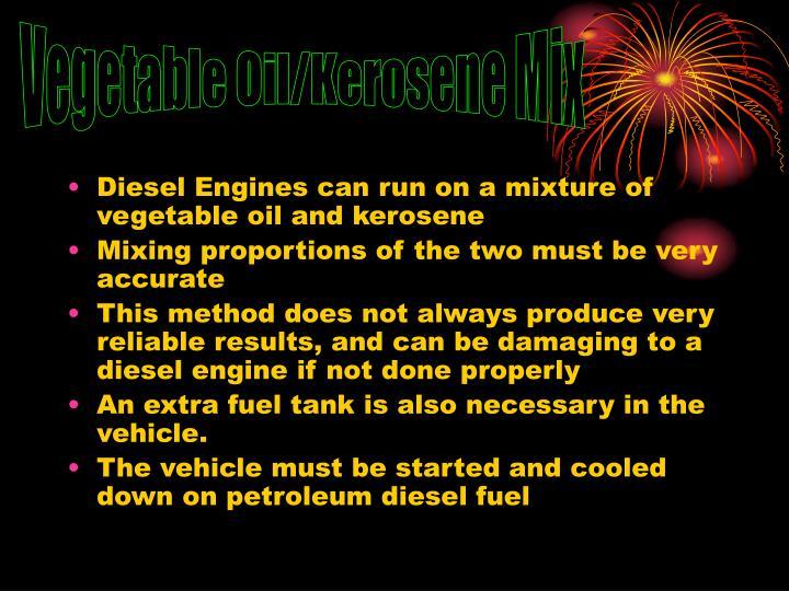 Vegetable Oil/Kerosene Mix