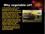 why vegetable oil