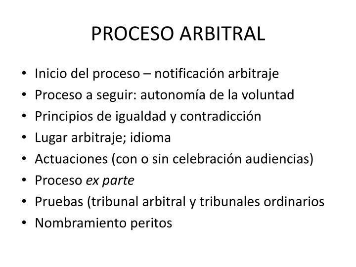 PROCESO ARBITRAL