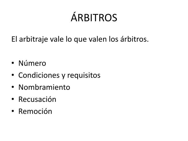 ÁRBITROS