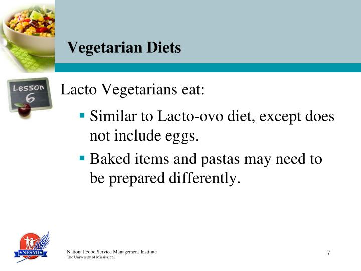 Lacto Vegetarians eat:
