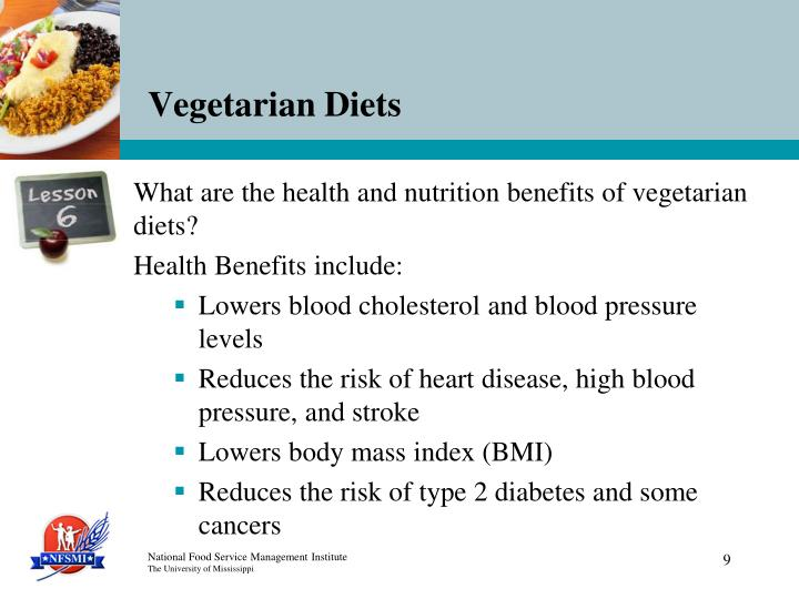 What are the health and nutrition benefits of vegetarian diets?