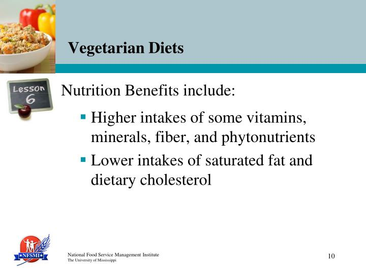 Nutrition Benefits include: