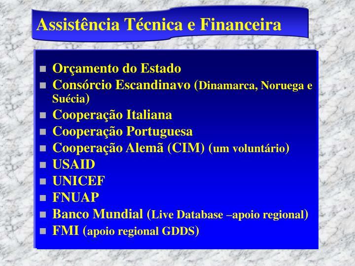 Assistência Técnica e Financeira
