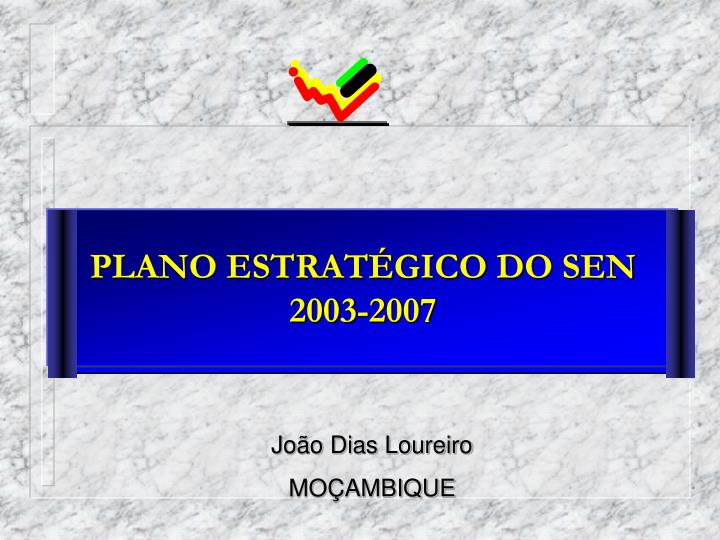 PLANO ESTRATÉGICO DO SEN