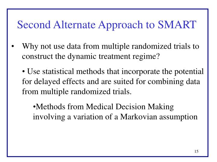 Second Alternate Approach to SMART