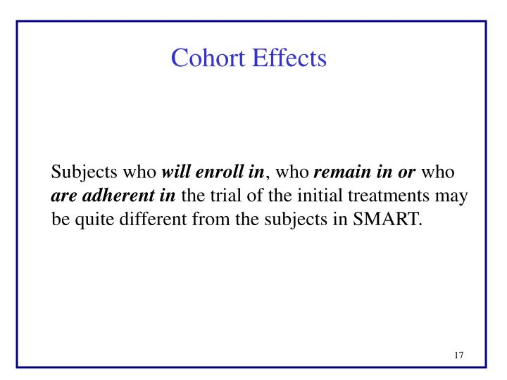 Cohort Effects