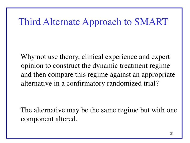 Third Alternate Approach to SMART