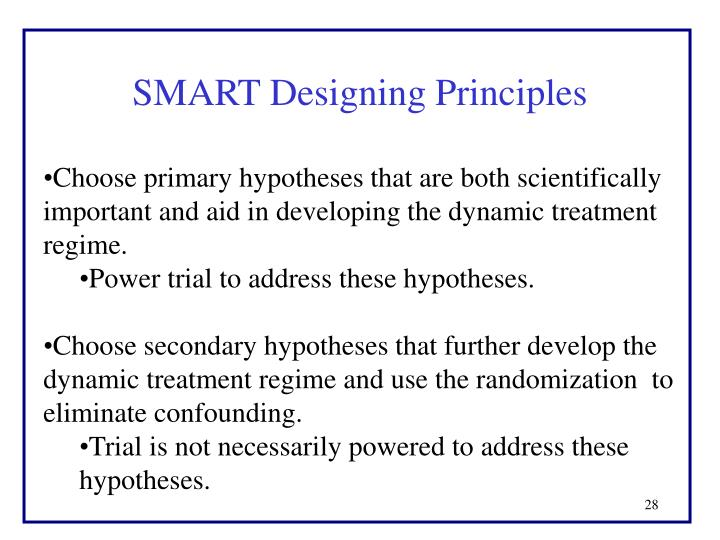 SMART Designing Principles