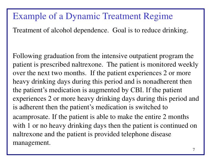 Example of a Dynamic Treatment Regime