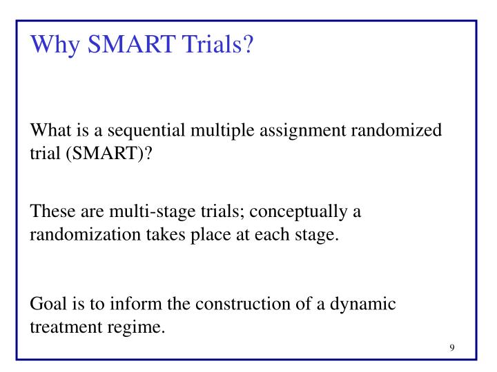Why SMART Trials?