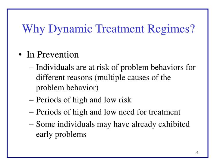 Why Dynamic Treatment Regimes?