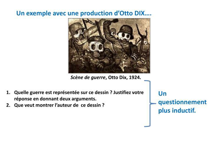 Un exemple avec une production d'Otto DIX….