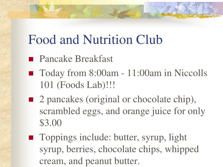 Food and Nutrition Club