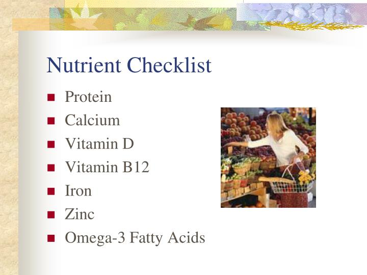 Nutrient Checklist