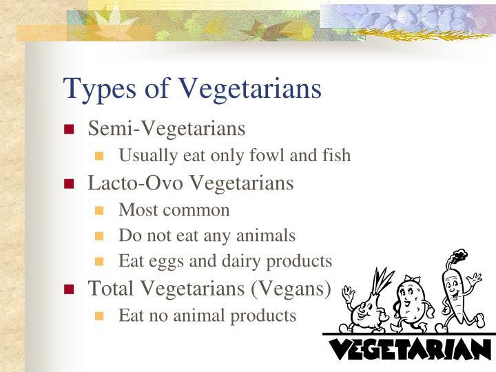 Types of Vegetarians