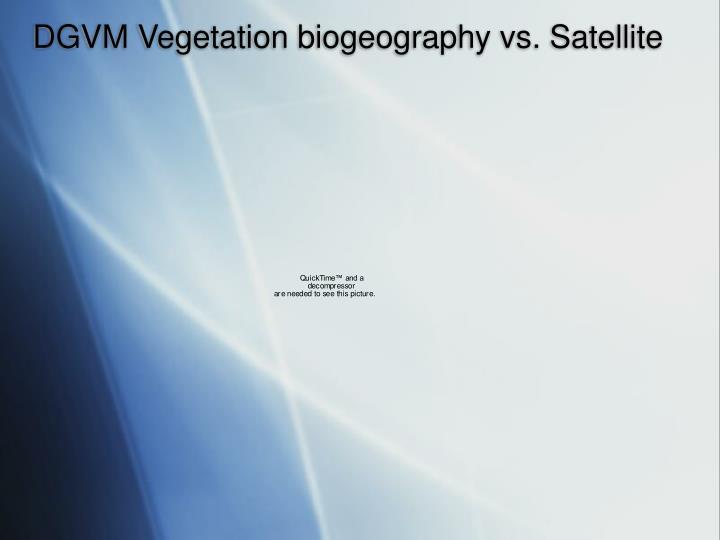 DGVM Vegetation biogeography vs. Satellite