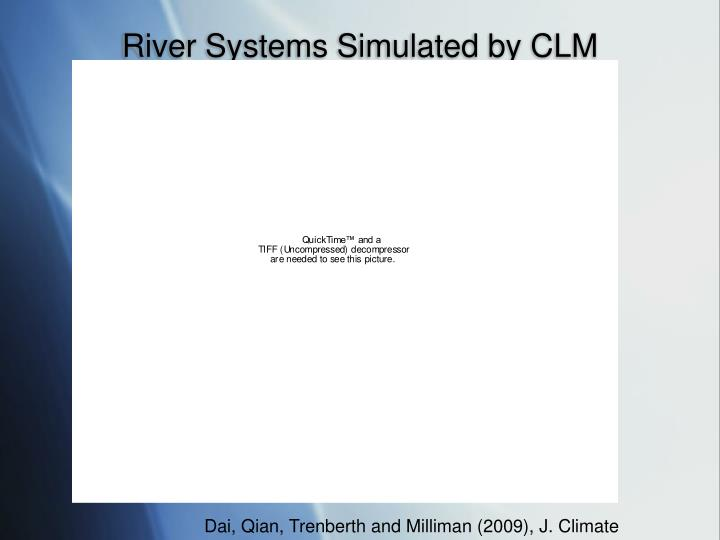River Systems Simulated by CLM