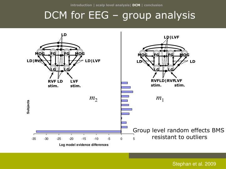 DCM for EEG – group analysis
