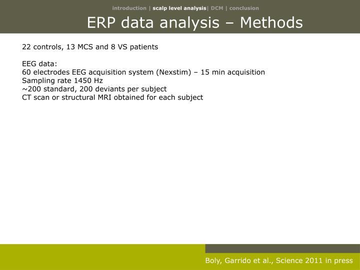 ERP data analysis – Methods