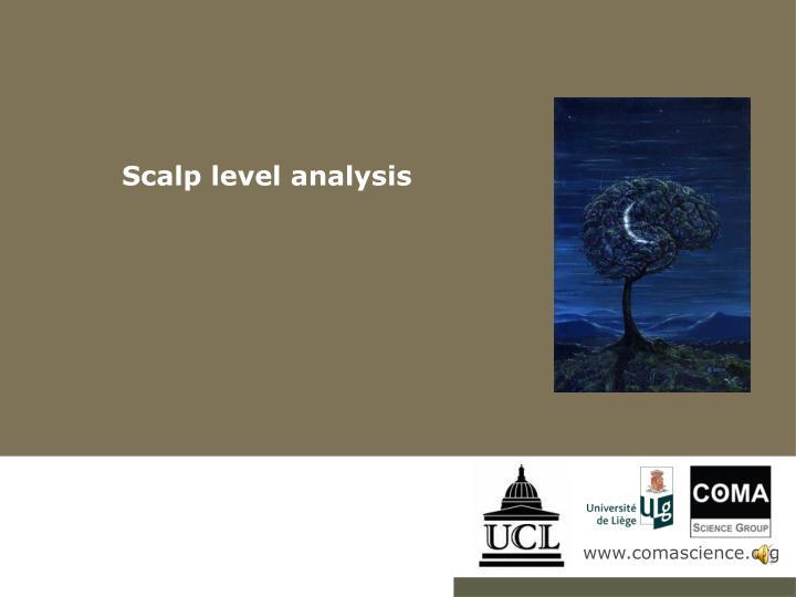 Scalp level analysis