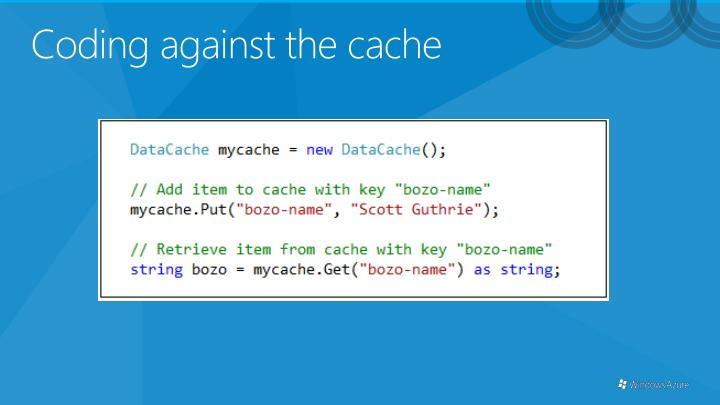 Coding against the cache