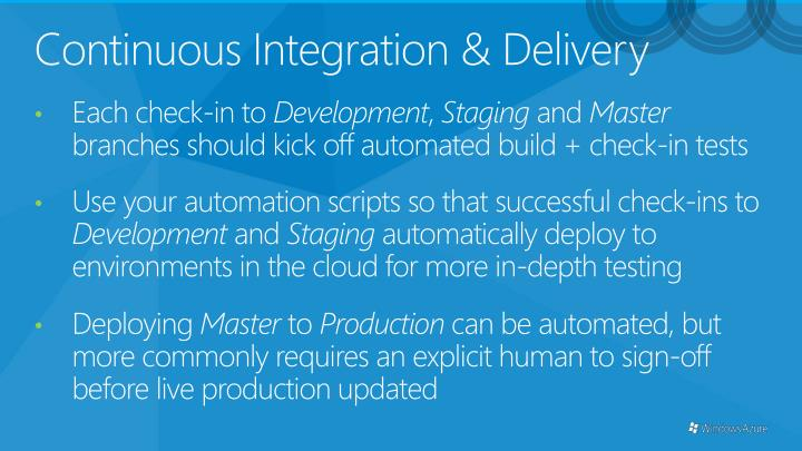 Continuous Integration & Delivery
