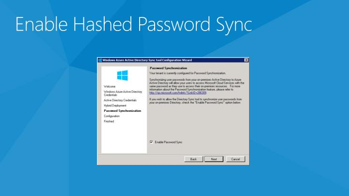 Enable Hashed Password Sync