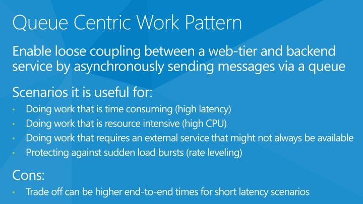 Queue Centric Work Pattern