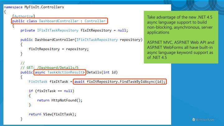Take advantage of the new .NET 4.5