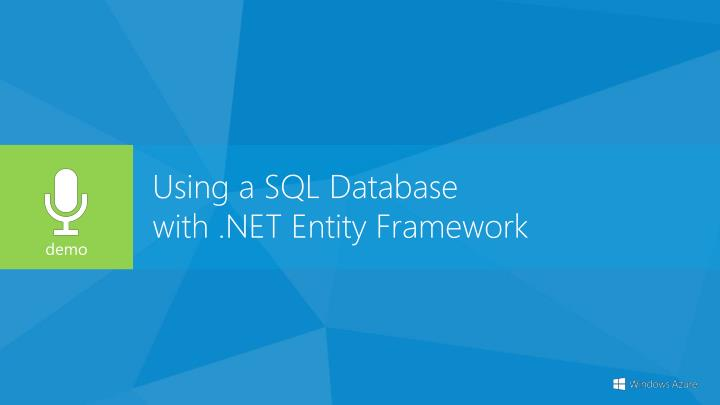 Using a SQL Database