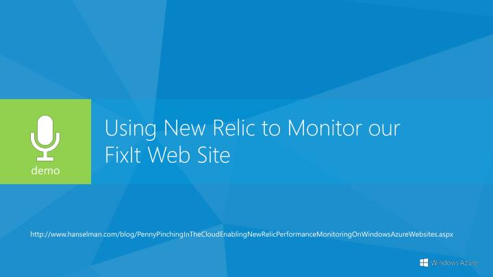 Using New Relic to Monitor our
